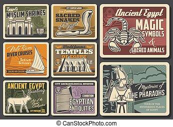 ägypter, geschichte, kultur, plakate, religion, museum