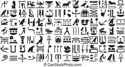 ägypter, hieroglyphen, 1, uralt, satz