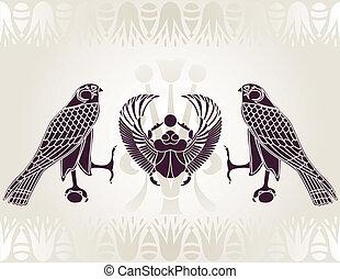 Ägypter Horus und Schal