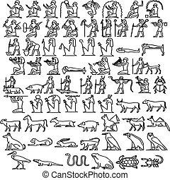 Ägyptische Hieroglyphen.
