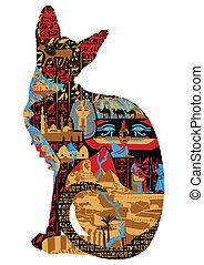 Ägyptische Muster in Katzen.
