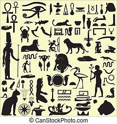 Ägyptische Symbole und Zeichen SET 1