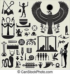 ägyptische Symbole und Zeichen SET 2