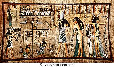 Ägyptischer Papyrus.