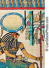 Ägyptisches Geschichtskonzept mit Papyrus