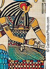 Ägyptisches Geschichtskonzept mit Papyrus.