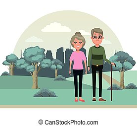 Ältere Menschen avatar Cartoon Charakter.
