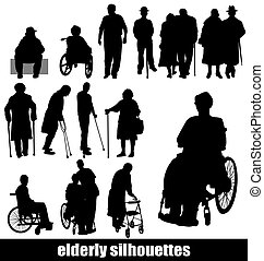 Ältere Silhouette