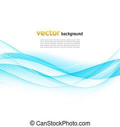 Ändern Sie den farbenfrohen blauen Vektorwellen Hintergrund