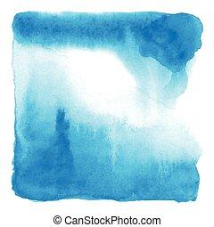 Ändern Sie die blaue Wasserfarbe auf weißem Hintergrund.