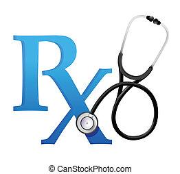 Ärzte stehen für ein Stethoskop