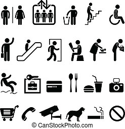 Öffentliche Schild-Einkaufs-Ikone