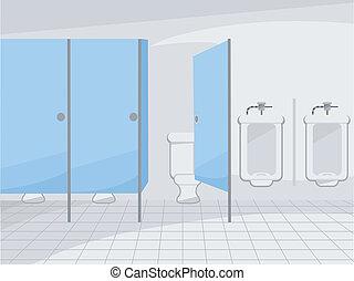 Öffentliche Toilette.