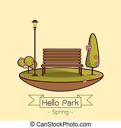 Öffentlicher Park in der Stadt
