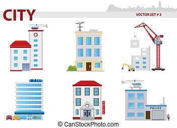 Öffentliches Gebäude. Set 3