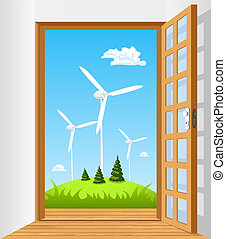 Öffne die Tür zu grüner Energie.
