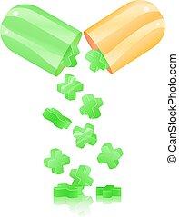 Öffnen Sie die Pille