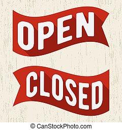 Öffnen Sie geschlossenes Symbol