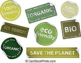 Ökofreundliche Etiketten