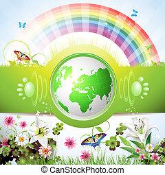 Ökogrüne Erde