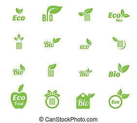 Ökologie-Ikone eingestellt.