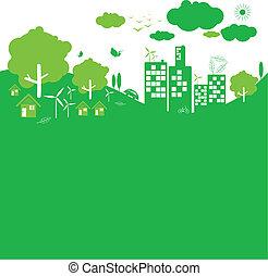 Ökologie-Konzept.