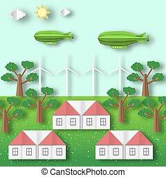 ökologie, landschaftsbild, conservation., umwelt