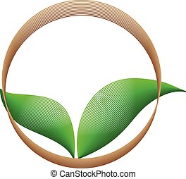 Ökologie, organische Ikone.