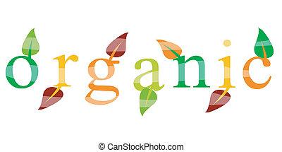 ökologie, organische , ikone