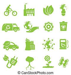Ökologie und Umwelt-Ikonen
