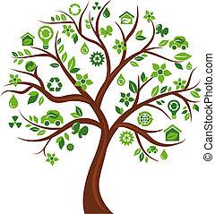 Ökologische Symbole Baum - 3.