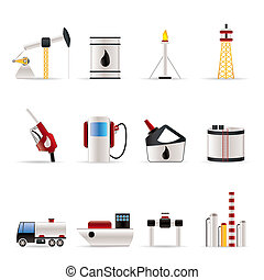 Öl- und Ölindustrie-Ikonen