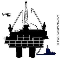 Ölbohrplattform, im Offshore-Bereich