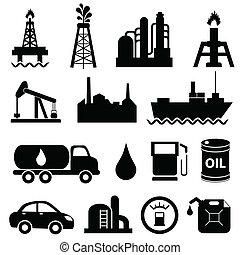 Ölindustrie-Icon-Set