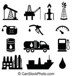 Ölindustrie-Ikone eingestellt.