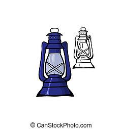 Öllampe.