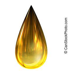 Öltropfen mit Reflexionen