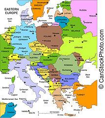 Östlicher Europe mit Schnittländern, Namen