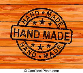 -, 3d, mittel, produkte, abbildung, handwerker, handgearbeitet, hand gemacht, briefmarke