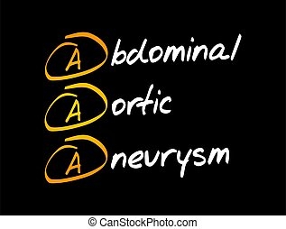 -, aaa, aortal, aneurysma, abdominal, akronym