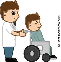 -, medizin, vektor, patient, doktor