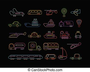 - Neon-Vektor-Icons