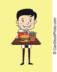 -, schnell, zahnarzt, essen, präsentieren