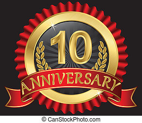 10 Jahre Jubiläumsgold