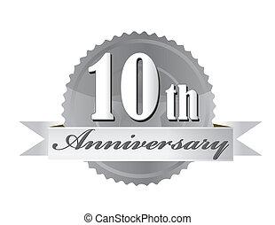 10. Jahrestags-Abschluss-Illustration