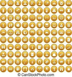 100 Erwachsenenspiele Symbole setzen Gold.