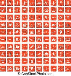 100 Helden-Ikonen haben Grunge-Orange.