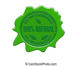 100% natürliches Wachssiegel