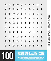 100 Web-Icons.