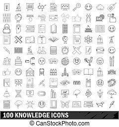 100 Wissens-Symbole sind fertig.